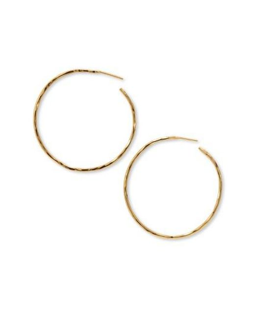 Argento Vivo | Metallic Hammered Large Hoop Earrings | Lyst
