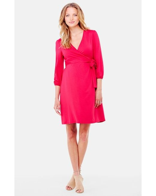 Ingrid & Isabel | Pink Ingrid & Isabel Nursing Friendly Maternity Wrap Dress | Lyst