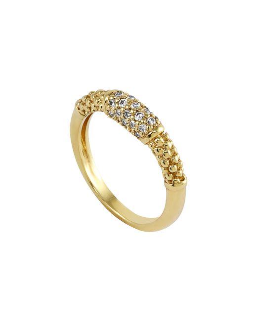 Lagos Metallic Caviar Diamond Ring