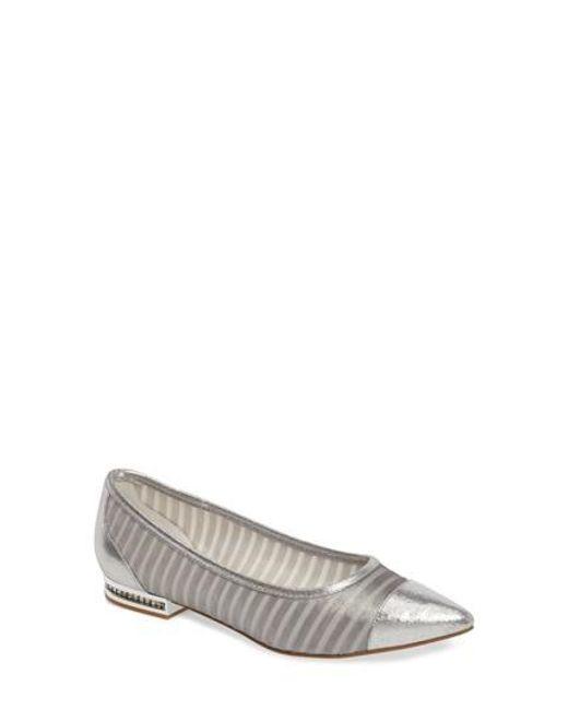 Adrianna Papell | Metallic Tiffany Pointy Toe Flat | Lyst