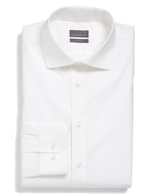 Calibrate | White Trim Fit Dress Shirt for Men | Lyst