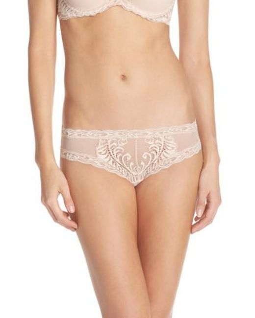 Natori | Pink Feathers Hipster Briefs | Lyst