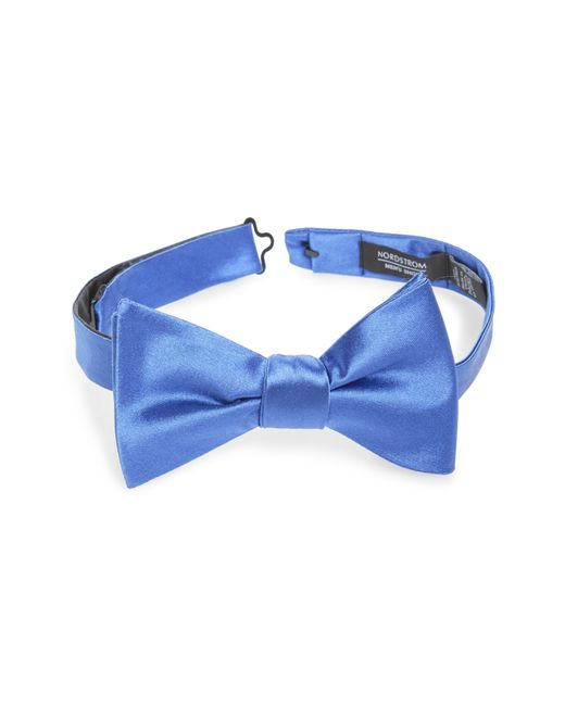 Nordstrom Blue Solid Silk Bow Tie for men