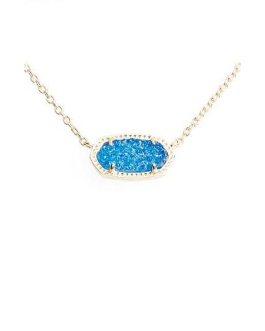 Kendra Scott - Blue Elisa Pendant Necklace - Lyst