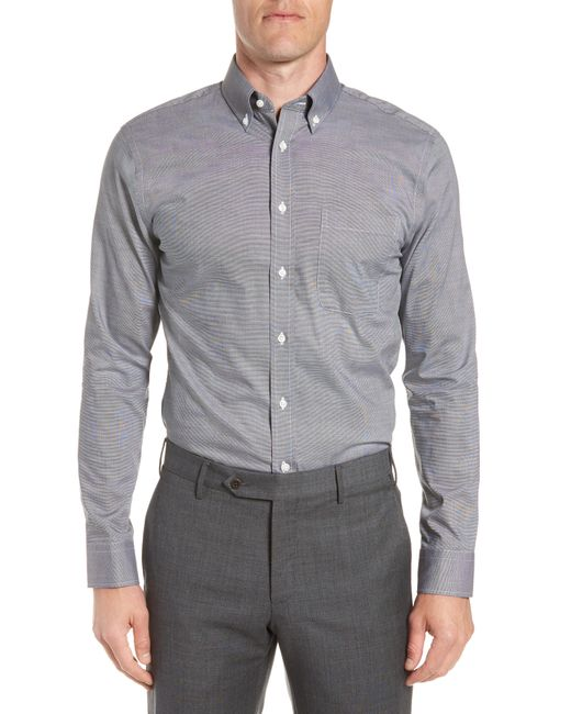 Nordstrom - Gray Trim Fit Non-iron Dress Shirt for Men - Lyst