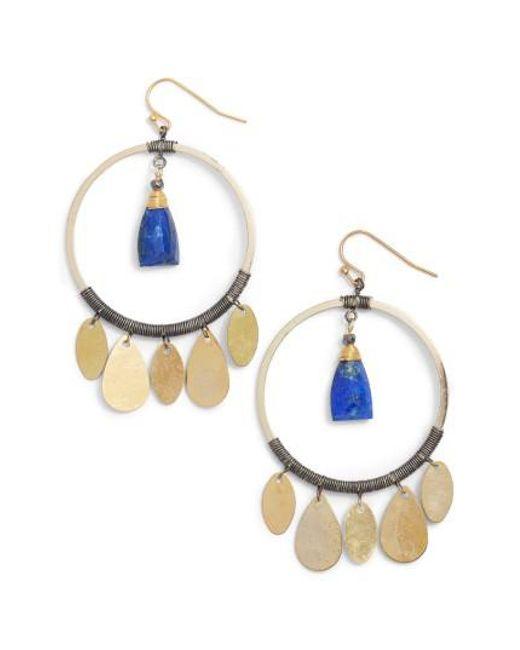 Nakamol | Metallic Hoop Drop Earrings | Lyst