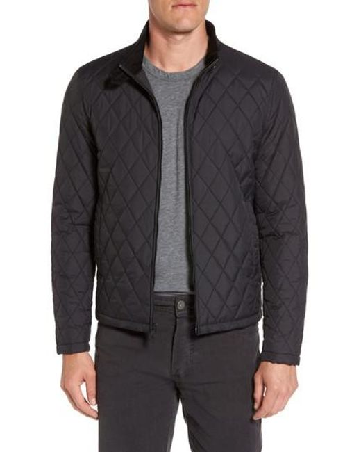 Vince Camuto   Black Quilted Moto Jacket for Men   Lyst