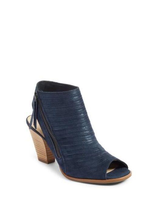 Paul Green | Blue 'cayanne' Leather Peep Toe Sandal | Lyst