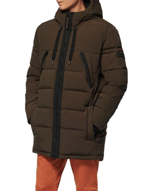 Marc New York Green Holden Water Resistant Down & Feather Fill Quilted Coat for men
