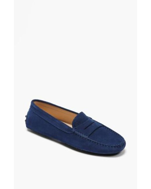 Tod's - Blue 'gommini' Driving Moccasin - Lyst