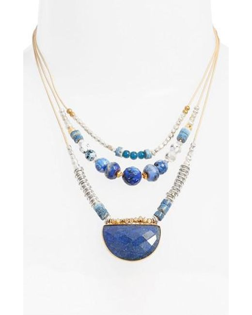 Nakamol   Blue Multilayered Necklace   Lyst