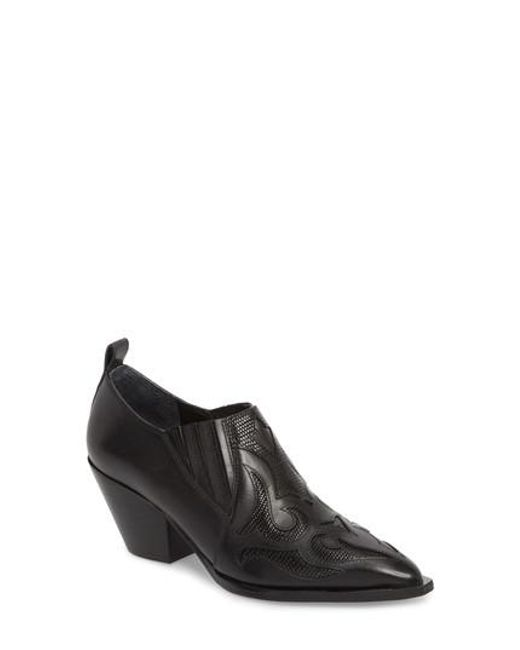 Marc Fisher - Black Charly Western Bootie - Lyst
