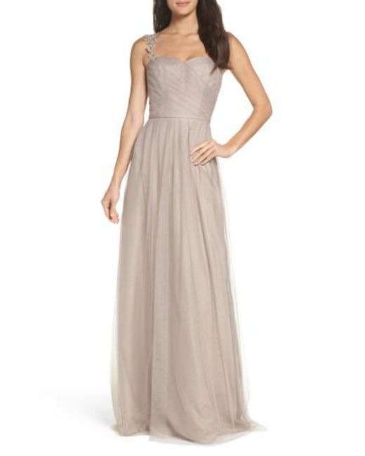 Monique Lhuillier Bridesmaids | Multicolor Violetta Tulle Gown | Lyst