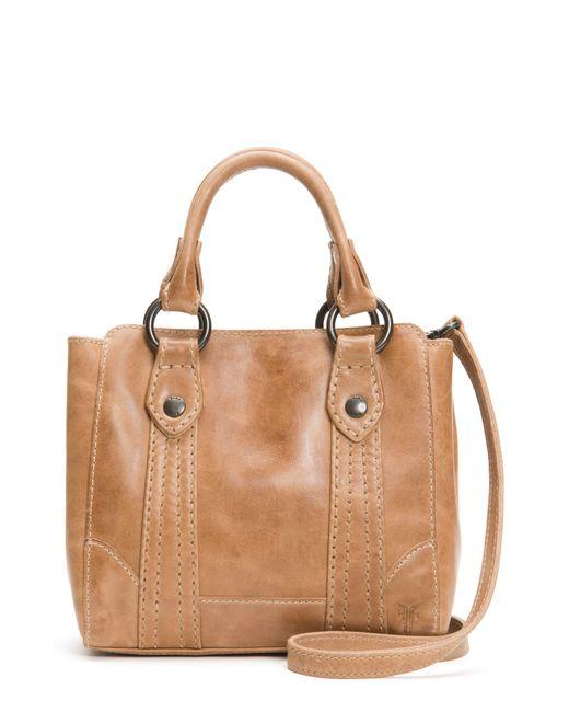 Frye Natural Mini Melissa Leather Crossbody Bag