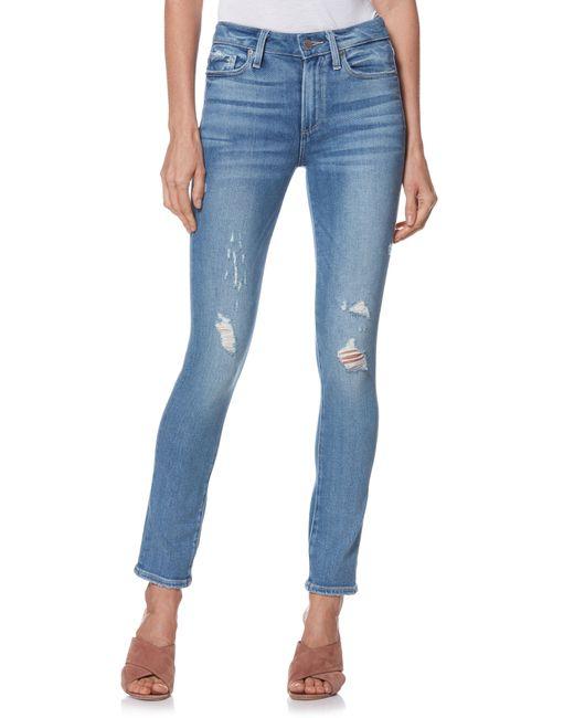PAIGE - Blue Hoxton High Waist Ankle Peg Jeans - Lyst