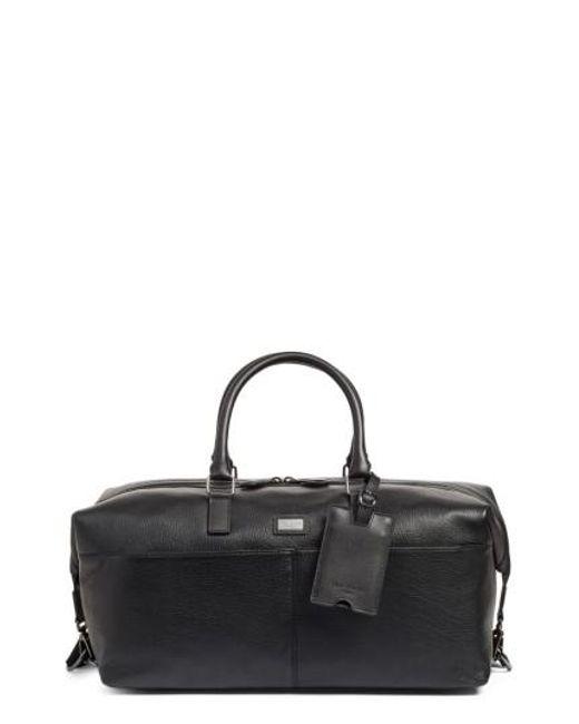 Ted Baker | Black Leather Duffel Bag for Men | Lyst