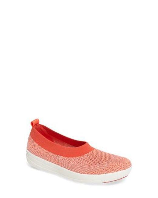 Fitflop | Pink Uberknit Slip-on Sneaker | Lyst