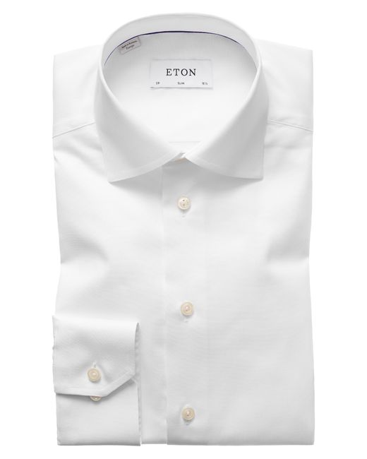 Eton of Sweden Black Slim Fit Dress Shirt for men