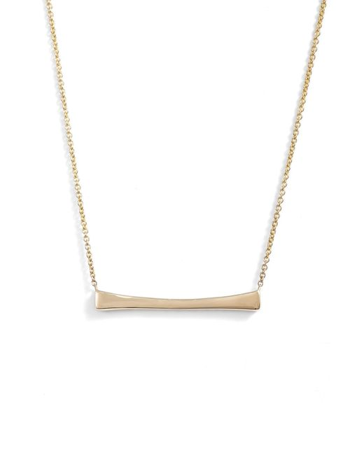 Bony Levy - Metallic Bar Pendant Necklace (nordstrom Exclusive) - Lyst