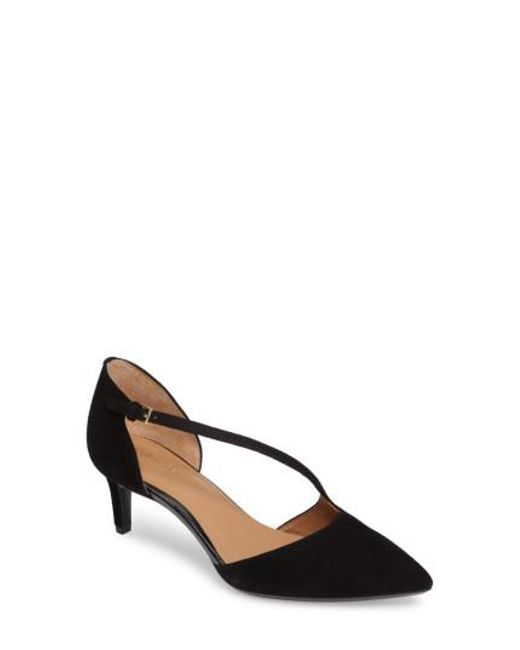 Calvin Klein | Black Page Pointy Toe Pump | Lyst