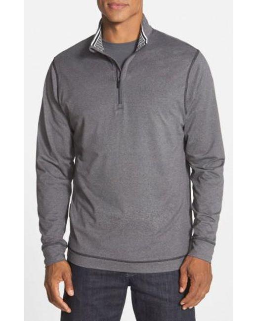 Cutter & Buck | Gray 'topspin' Drytec Half Zip Pullover for Men | Lyst