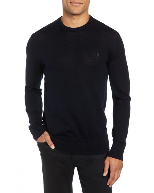 AllSaints - Gray Mode Merino Crew Sweater Usa Usa for Men - Lyst