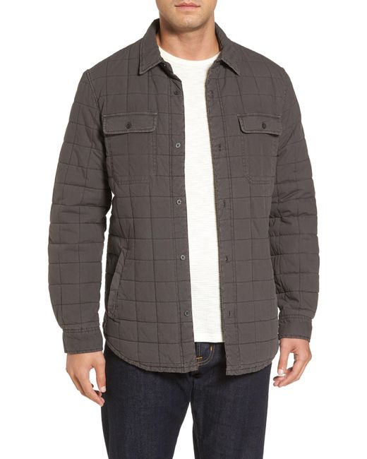 Ugg - Black Ugg Quilted Shirt Jacket for Men - Lyst