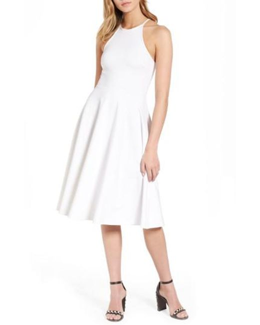 Soprano | White Knit Midi Dress | Lyst