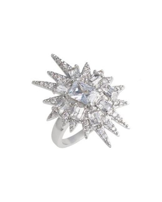 CZ by Kenneth Jay Lane   Metallic 'explosion' Cubic Zirconia Cocktail Ring   Lyst