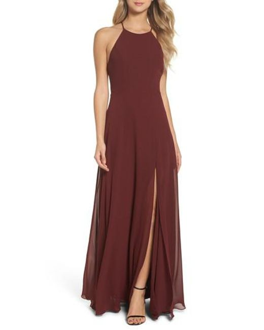 Lyst - Jenny Yoo Kayla A-line Halter Gown in Red