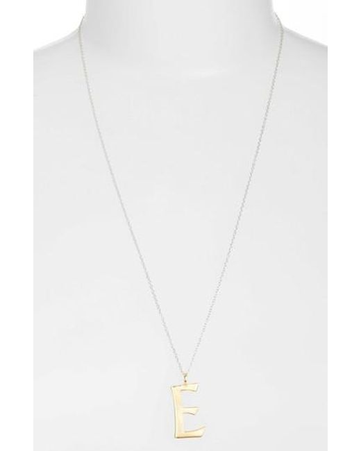 Argento Vivo | Metallic Initial Pendant Necklace | Lyst