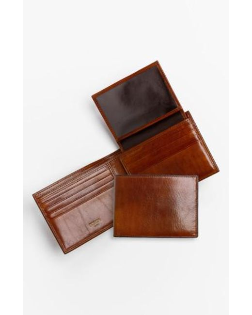 Bosca - Brown Id Passcase Wallet for Men - Lyst