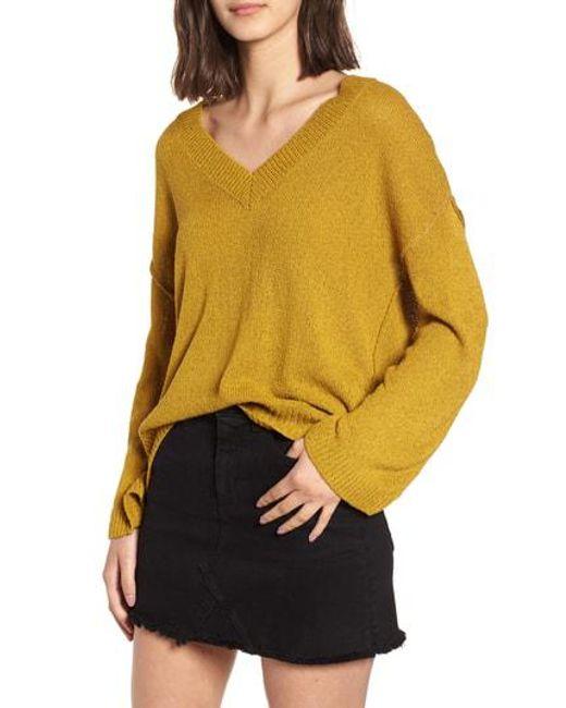 BP. - Yellow Exposed Seam Sweater - Lyst