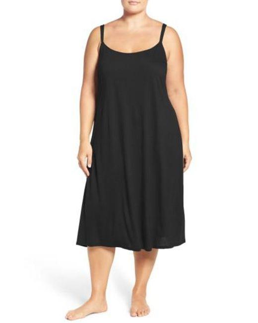 Natori | Black 'shangri La' Nightgown | Lyst
