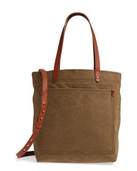 Madewell - Brown Medium Canvas Transport Tote - - Lyst