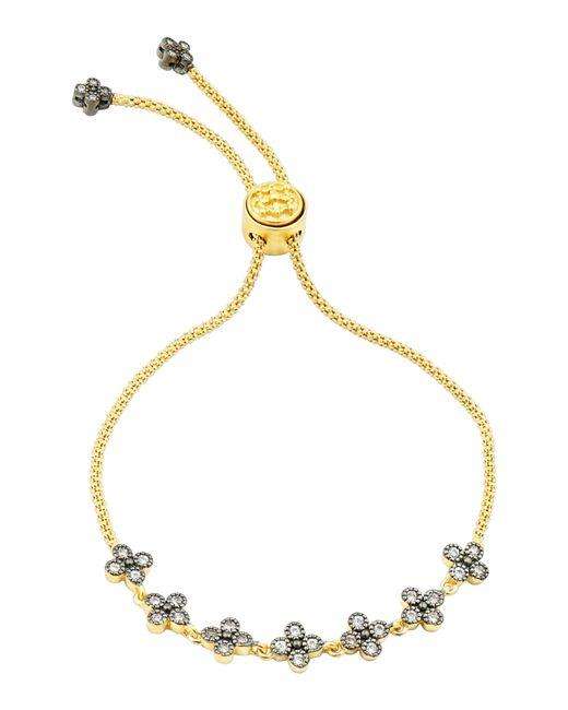 Freida Rothman Metallic Adjustable Clover Bracelet