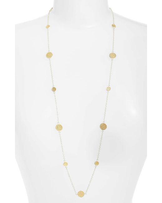 Anna Beck Metallic 'gili' Long Station Necklace