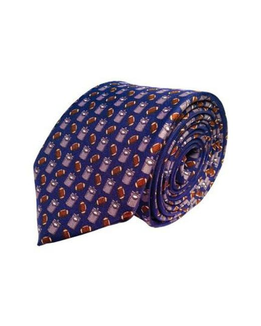 Lazyjack Press - Blue Tailgating Silk Tie for Men - Lyst