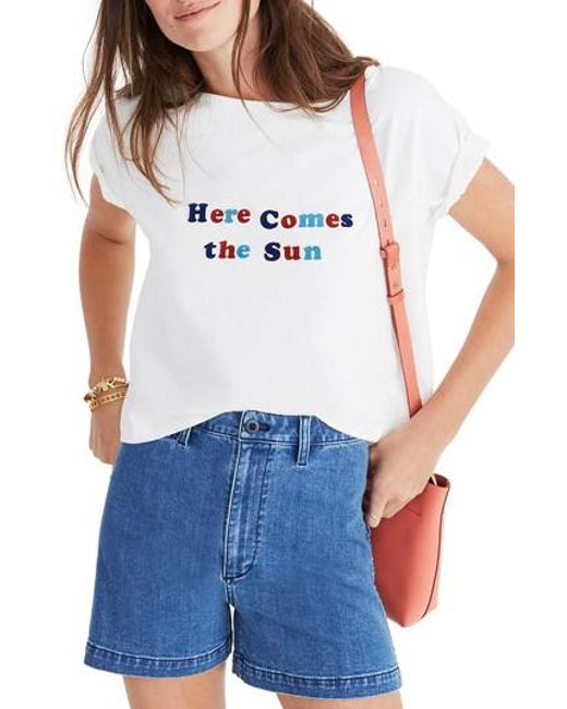 Madewell - Blue Here Comes The Sun Setlist Boxy Tee - Lyst