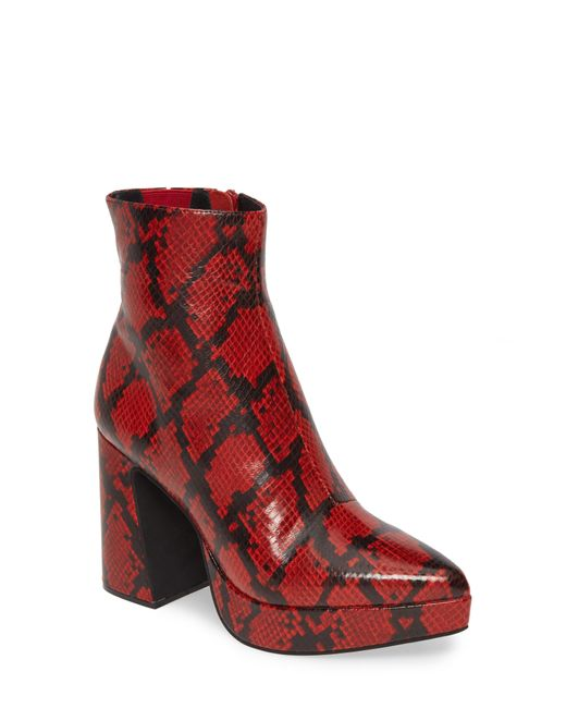 Jeffrey Campbell Red Dormant Boot
