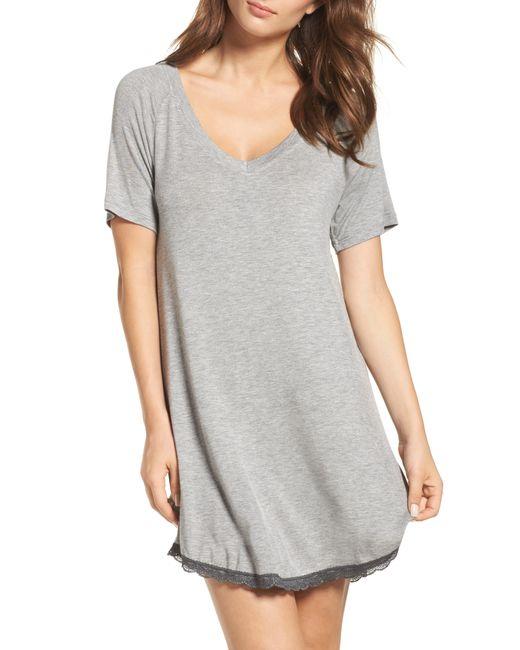 Honeydew Intimates - Gray Honeydew Ribbed Sleep Shirt - Lyst
