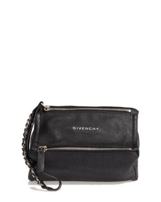 168693555fb Lyst - Givenchy Pandora Wristlet Clutch in Black