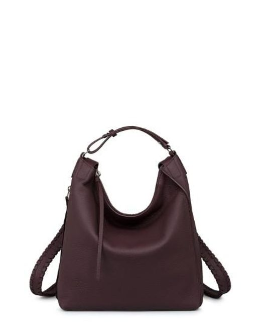 AllSaints | Purple Small Kita Convertible Leather Backpack | Lyst