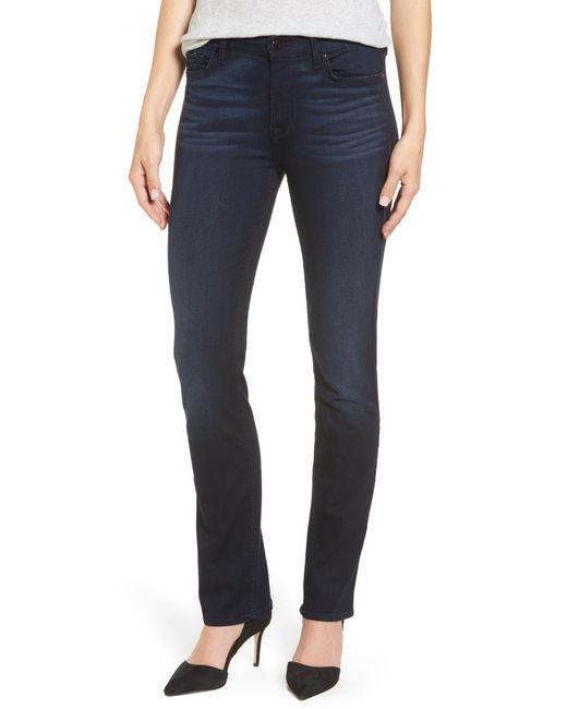 Jen7 - Blue Slim Straight Jeans - Lyst