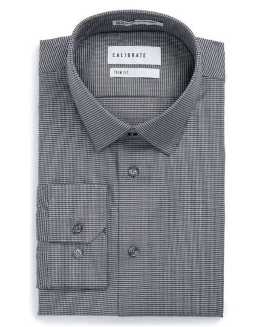 Calibrate trim fit no iron micro houndstooth stretch dress for No iron dress shirts for men
