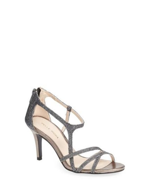 Pelle Moda - Metallic 'ruby' Strappy Sandal - Lyst