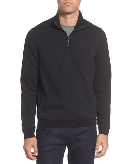 Vince Camuto | Black Slim Fit Mixed Media Track Jacket for Men | Lyst