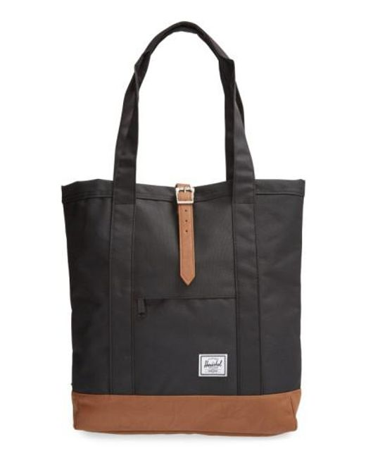 Herschel Supply Co. | Black 'market' Tote | Lyst