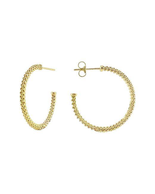Lagos - Metallic Caviar Hoop Earrings - Lyst