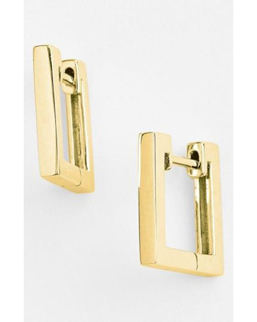 Bony Levy | Yellow Small Square Hoop Earrings (nordstrom Exclusive) | Lyst